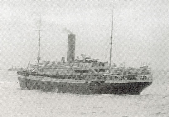 Troopship Aragon. Picture reproduced with permission from Imperial War Museum.